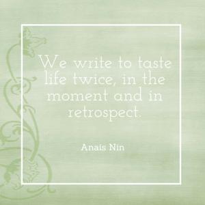 Writers savor life twice