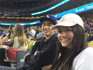 Easton Family night at Dodger Stadium