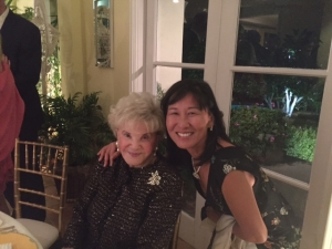 Rosa Kwon Easton with Judith Krantz