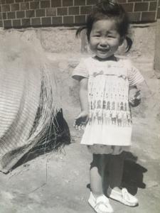 Rosa Kwon Easton at age three