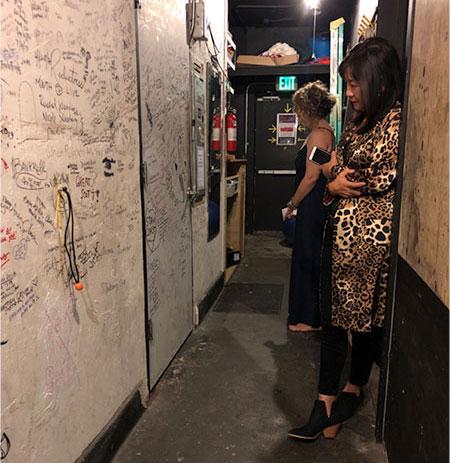 Rosa Kwon Easton backstage at Expressing Motherhood event