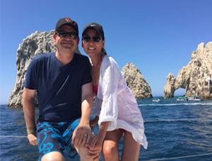 Author Rosa Easton and husband Mark in Cabo