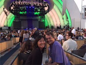Rosa Easton, Author, and her husband at Hollywood Bowl