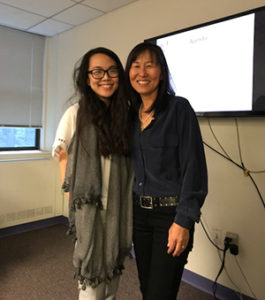 Rosa K Easton and Kayla Chan at Womankind in NYC