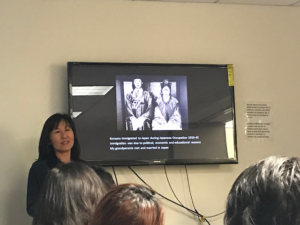 Rosa Kwon Easton presenting at Womenkind