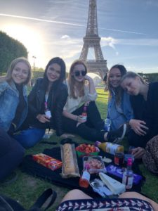 Claire and friends in Paris