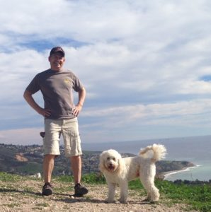 Easton with dog