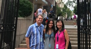 Easton family at Columbia University