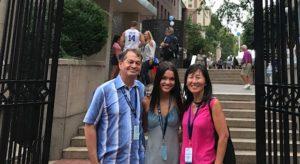Easton family at Columbia University