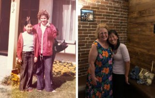 Rosa and Linda then and now