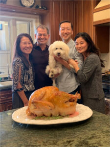 Proud Co-parents with Joey at Thanksgiving